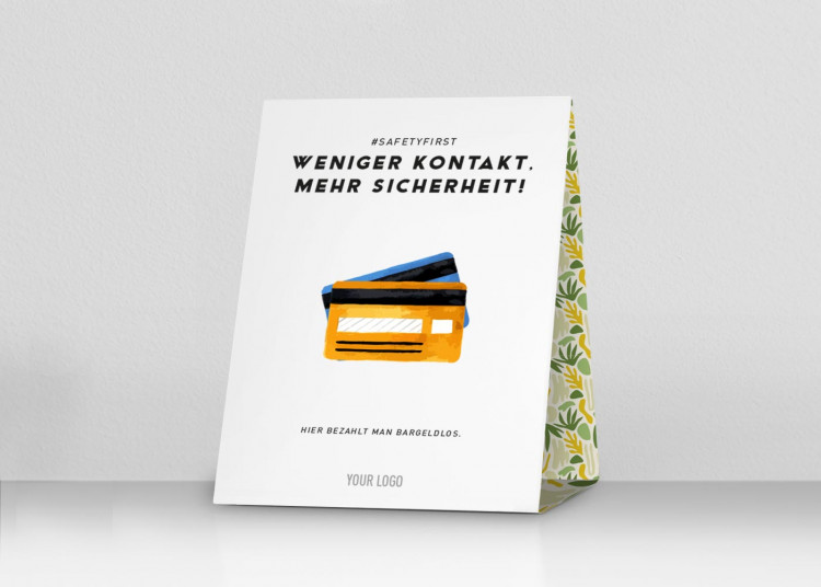 Thekenaufsteller 20 x 25 cm | Jungle - Cashless (de)