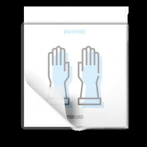 Aufkleber 15 x 15 cm | Icon - Handschuhe