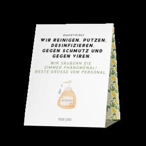Thekenaufsteller 20 x 25 cm | Jungle - Putzen Zimmer Virenfrei (de)